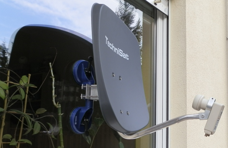 antena mobilna, satelitarna, technisat, digidish, mała, telewizja satelitarna, gdańsk, gdynia, trójmiasto